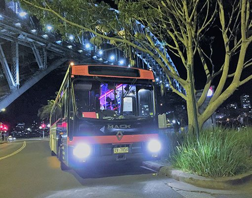 Spacious party bus in Sydney awaits party lovers